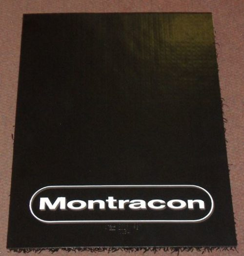 Super Single Mudflap with Montracon Logo